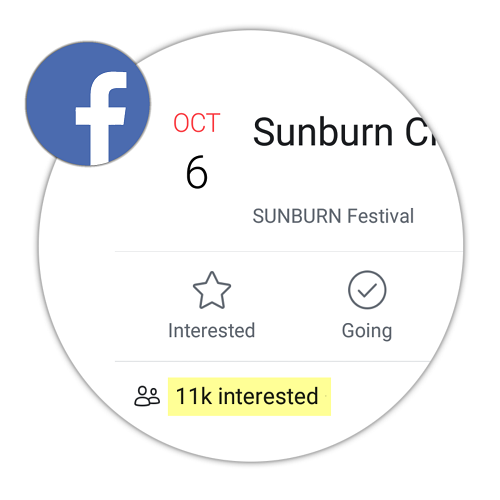 Buy Facebook event interested